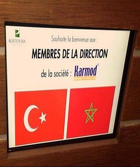Lawatan ke Koutoubia iaitu pengeluar makanan terbesar di Morocco.