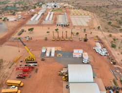 Pemasangan Kabin Pengurusan Modular yang telah siap di Senegal.