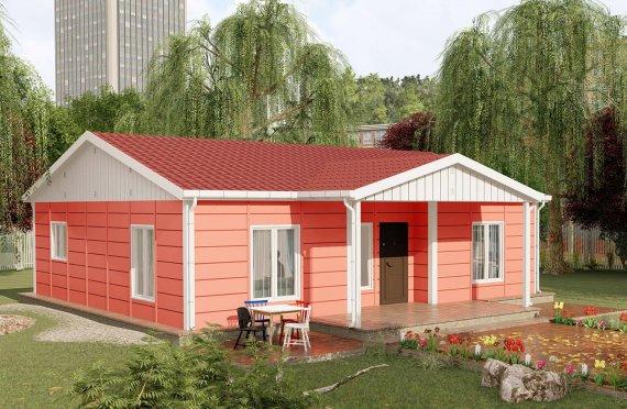100 m2 Rumah Modular Tingkat Satu