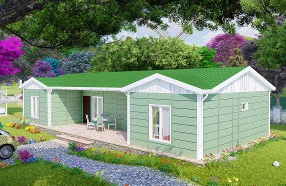 102 m2 Rumah Modular Tingkat Satu