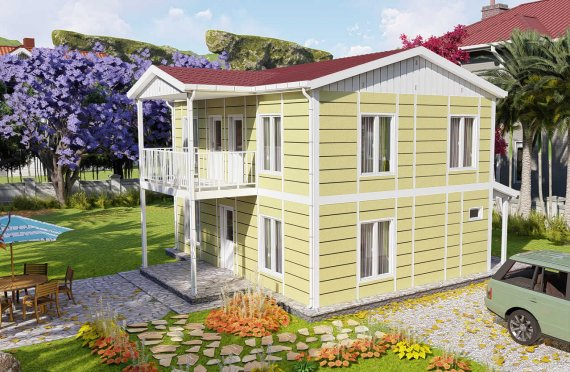 128 m2 Vila Prefab