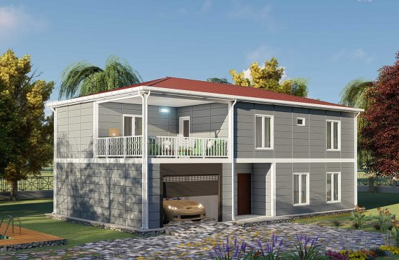 206 m2 Vila Prefab