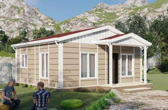 45 m2 Rumah Modular Tingkat Satu