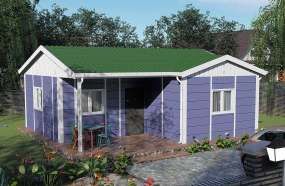 51 m2 Rumah Modular Tingkat Satu