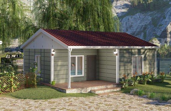 64 m2 Rumah Modular Tingkat Satu