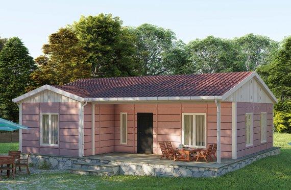 87 m2 Rumah Modular Tingkat Satu