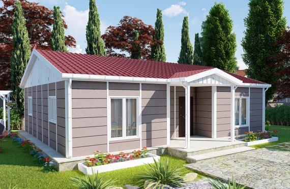 95 m2 Rumah Modular Tingkat Satu