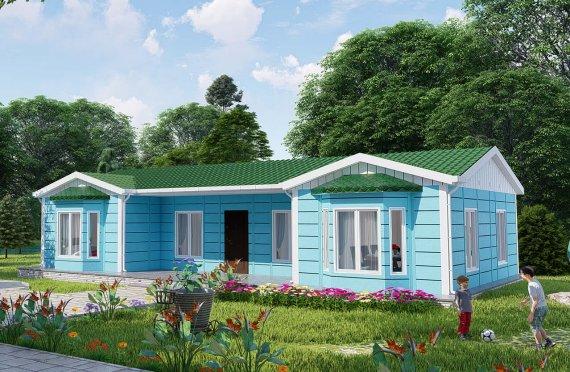 97 m2 Rumah Modular Tingkat Satu