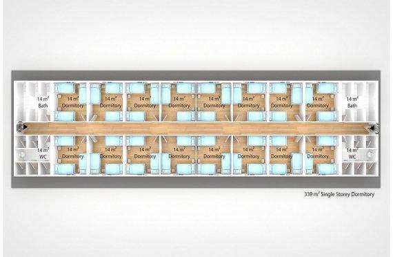 Unit Kemudahan Modular 339 m²