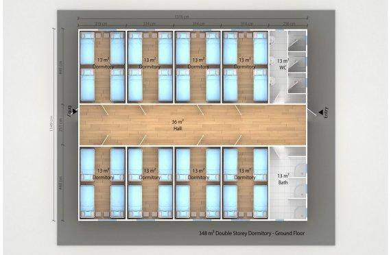 Unit Kemudahan Modular 348 m²
