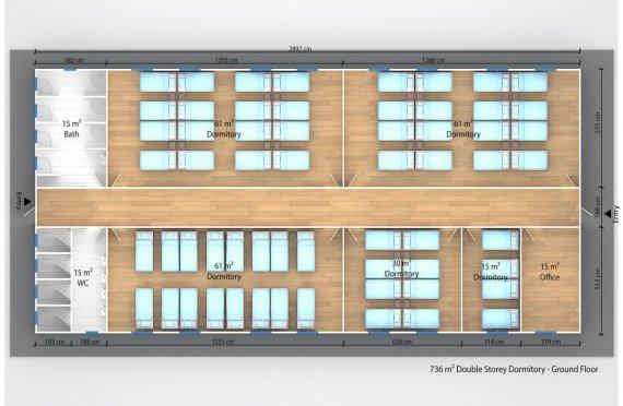 Unit Kemudahan Modular 736 m²