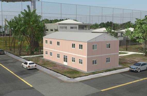 Binaan Pejabat Modular 340 m²