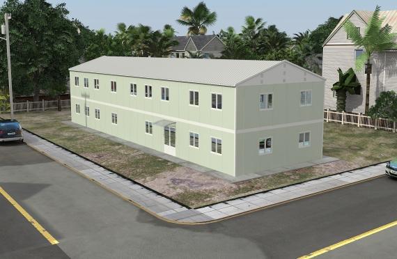 Bangunan Pejabat Modular 463 m²