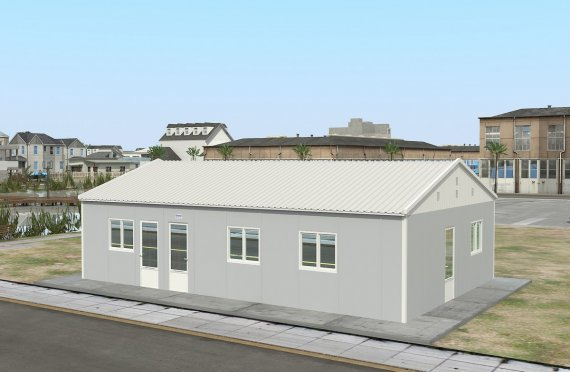 Dapur Komersial Pasang Siap 89  m²