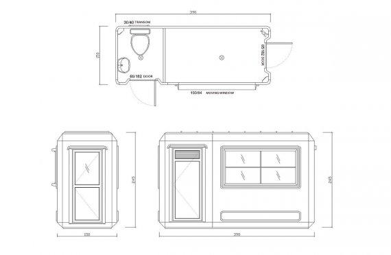 Kabin Tandas & Keselamatan Mudah Alih 150x390