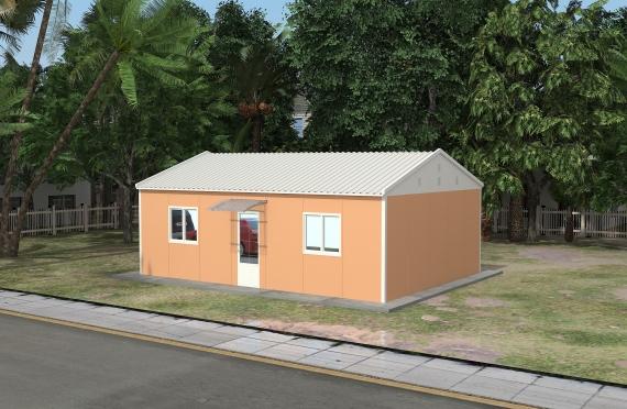 Binaan Pejabat Modular 58 m²