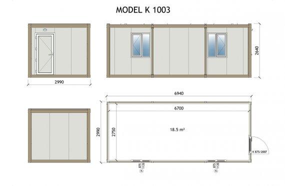 Kabin Mudah Alih K 1003