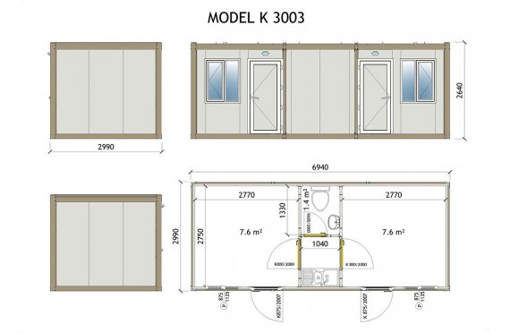 Kabin Mudah Alih K 3003