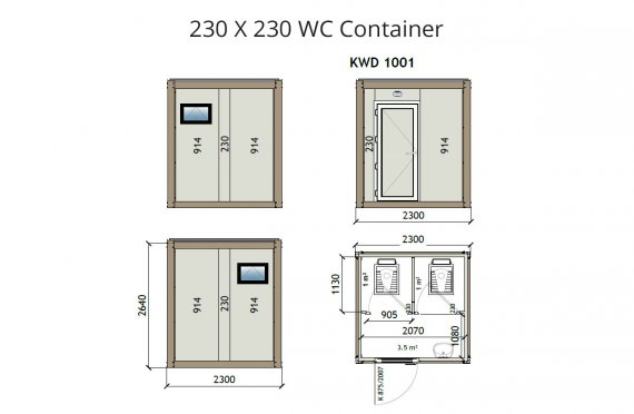 Kontena Tandas KW2 230x230
