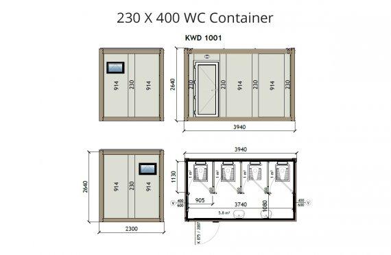Kontena Tandas KW4 230x400