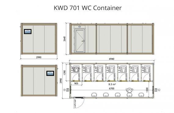 Kontena Tandas KWD 701