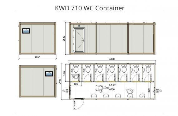 Kontena Tandas KWD 710