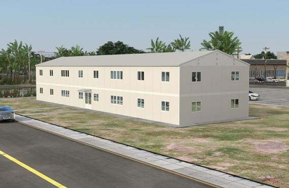 Bangunan Pejabat Modular 588 m²