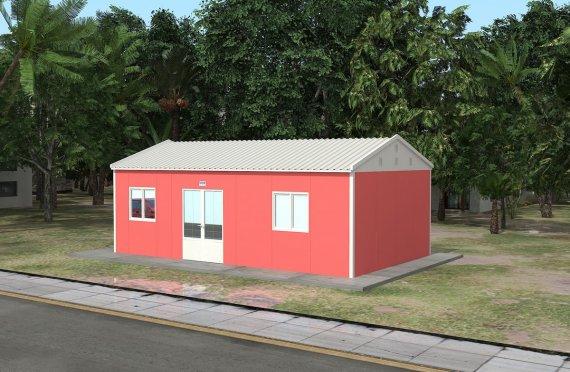 Pusat Kesihatan Modular 46 m²