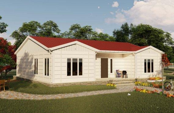 123 m2 Rumah Modular Tingkat Satu