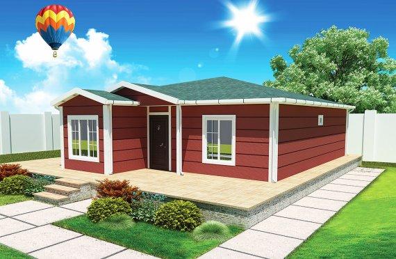 Rumah Pasang Siap 96 m²
