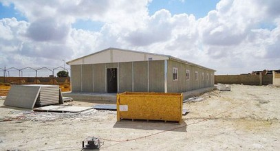 Pengeluaran bangunan pasang siap untuk tapak pengekstrakan minyak di Libya telah selesai