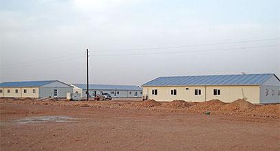Komplek tapak pembinaan pasang siap di Algeria