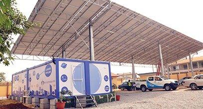 Kontena generasi baru Karmod digunakan untuk penyimpanan tenaga suria di Nigeria