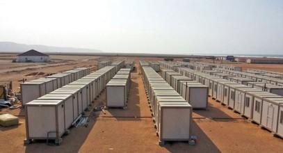 Kami menyediakan tapak pembinaan untuk pelombong emas di Guinea.