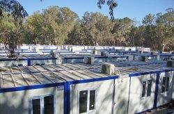 Komplek bangunan kontena di Libya